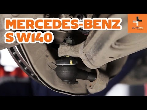 How to replace front ball joint Mercedes-Benz S W140 TUTORIAL | AUTODOC