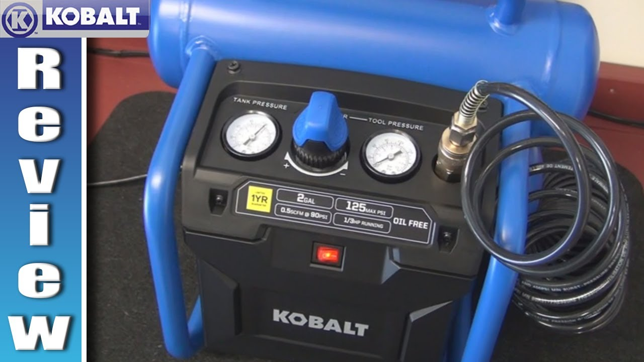 Kobalt 2 Gallon Air Compressor Review Youtube