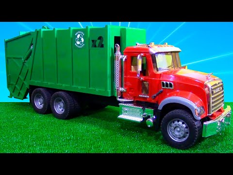 Машинка Мусоровоз | Обзор Техники | Игрушки для детей | Tiki Taki Boys