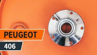 Монтаж на задна лява дясна Колесен лагер на PEUGEOT 406 (8B): безплатно видео