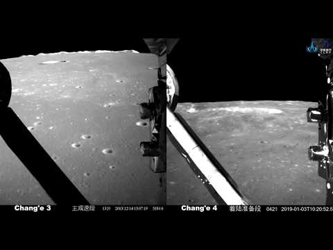 Agencia Chinesa divulga vídeo da aterrizagem da sonda Chang'e 4 no lado oculto da Lua