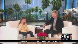 Little girl from Council Grove on Ellen
