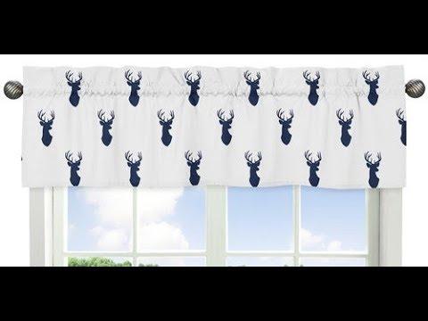 Sweet Jojo Designs 9-Piece Navy Blue White And Gray Woodland Deer Print Crib Baby Bedding Set