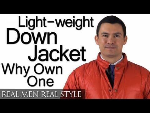 Men's Lightweight Down Jacket - Classic Wardrobe Piece? - Light Weight Feather Jackets Coats