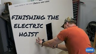Finishing up the Electric Hoist Install - Installing Drywall