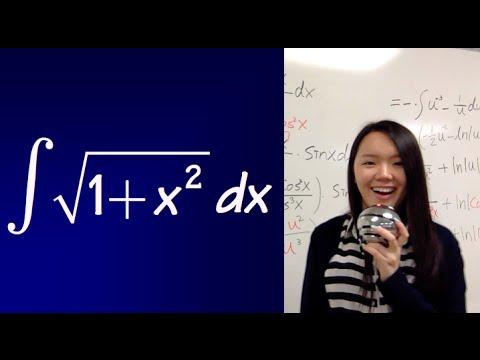 integral of sqrt(1+x^2)