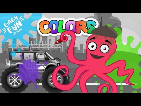 fire-truck-for-kids-|-coloring-cars-|-coloring-book-|-learn-colors-for-children-|-baby-fun-traffic
