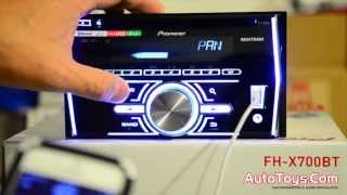 PIONEER FHX700BT DOUBLE DIN UNBOXING and PRODUCT DEMO. CD USB Bluetooth Radio