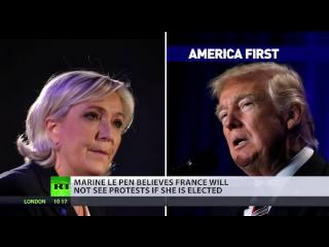 In France, we respect election results – Marine Le Pen on anti Trump protests & French vot
