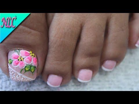 Decoracion De Unas Para Pies Flores Facil De Hacer Flowers Nail