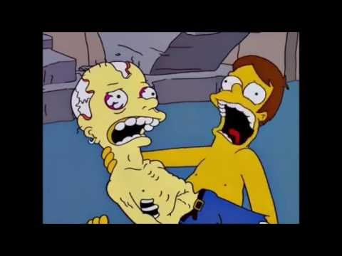 El trauma de Homero cuando encuentra el cadaver - Los Simpson