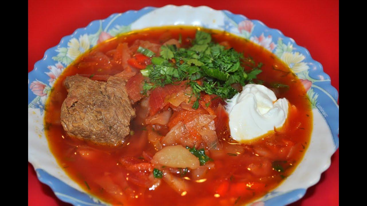 борщ из свежей капусты рецепт с фото пошагово