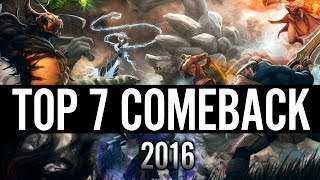 Top 7 DotA 2 Comeback 2016 and HAPPY NEW YEAR Dota 2 Divine