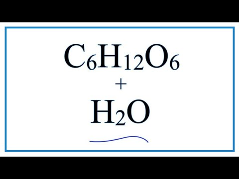 Equation For Glucose Dissolving In Water  (C6H12O6  + Water)