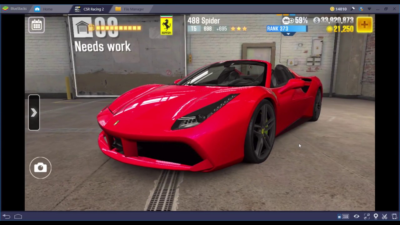 CSR2 Ferrari 488 Spyder stage 5 only live racing dyno beating setup and tune