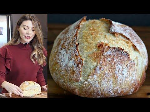 Evde Ekmek Nasıl Yapılır? Yoğurmadan, Makinasız Ekmek Tarifi | Canan Kurban