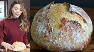 Gambar cover Evde Ekmek Nasıl Yapılır? Yoğurmadan, Makinasız Ekmek Tarifi | Canan Kurban