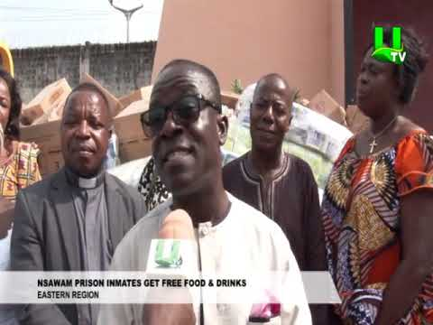 Nsawam prison inmates get free food & drinks