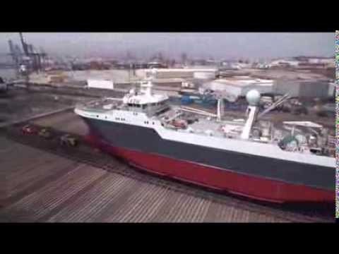 """Our vessel """"Juvel"""" undocking from ASTICAN Shipyard, Las Palmas"""
