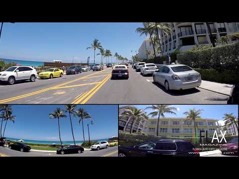 A1A CRUISING with FLAX Magazine in 180 DEGREES HD 3-SCREEN VIEW Palm Beach Lake Worth Mar a Lago
