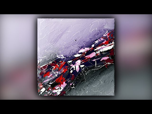 Easy Abstract Acrylic Painting Technique / Gesso / Palette Knife / Demo #089