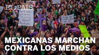 MÉXICO | Marcha FEMINISTA contra la PRENSA que publicó las fotos del asesinato de INGRID ESCAMILLA