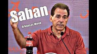 Alabama Crimson Tide Football: What Nick Saban said before the Arkansas game