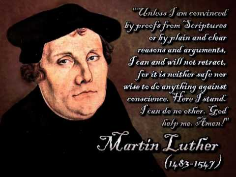 A Mighty Fortress Is Our God (with words) - Martin Luther