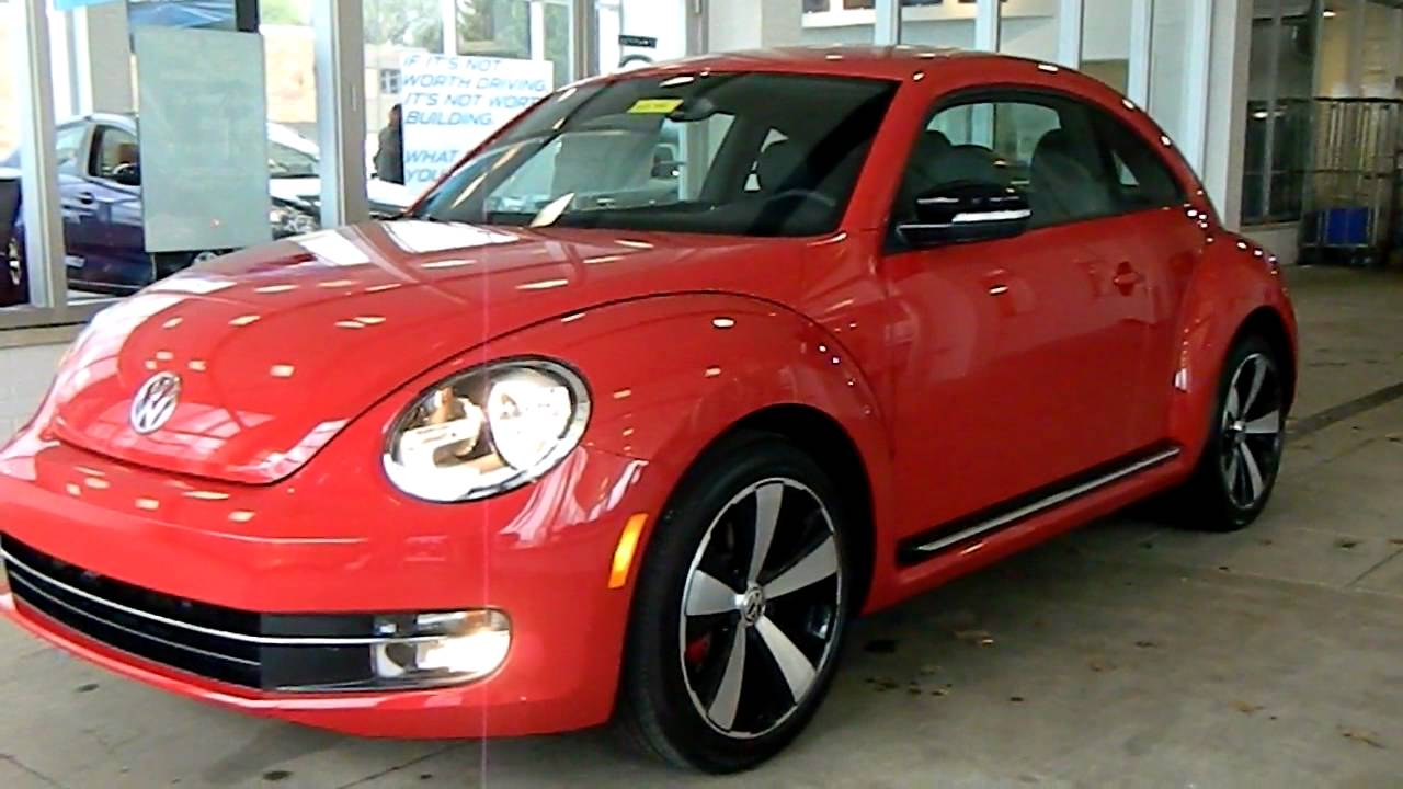 Volkswagen Beetle 2012 >> Tornado Red 2012 VW Beetle Turbo w/ Sound & Nav @ Eastside Volkswagen in Cleveland, Ohio - YouTube