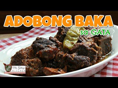 ADOBONG TADYANG ng BAKA sa GATA (Mrs.Galang's Kitchen S8 Ep7)