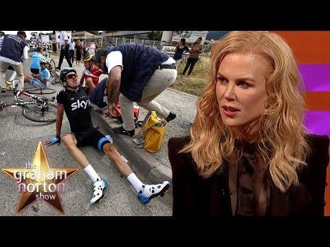 Nicole Kidman Stunned By Geraint Thomas' Broken Pelvis   The Graham Norton Show