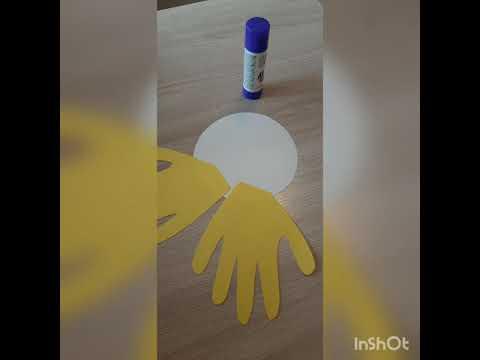 Своими руками солнышко из ладошек