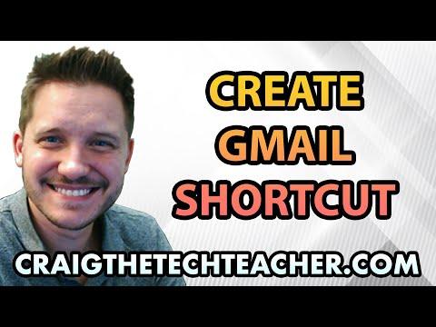 How To Create A Google Chrome GMail Or App Desktop Shortcut