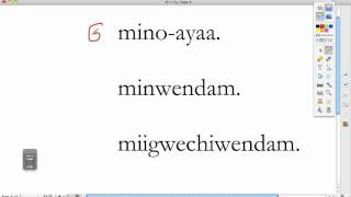 Ojibwe Language Lesson The Prefix Gi-