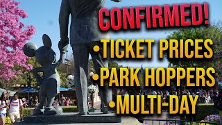 Disneyland Ticket Prices and Details Confirmed