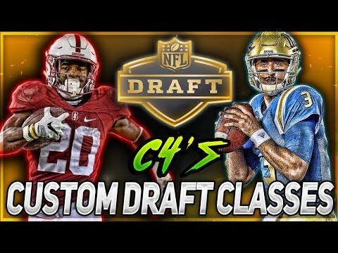 DOWNLOAD MY CUSTOM DRAFT CLASSES! -- MADDEN 18 FRANCHISE MODE