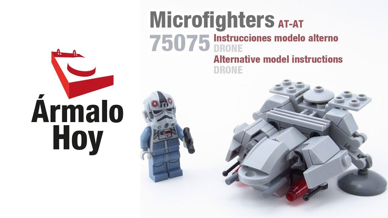 Instrucciones para un drone con piezas de lego 75075 at at - Piezas lego gigantes ...