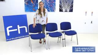 Blue Stacking Chair Demo - Furniture Hire Uk
