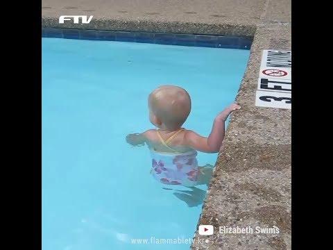 수영을 하기 위해 태어난 아기 엘리자베스