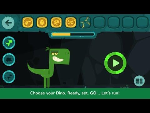 Dinos Jump Part 4 - Dinosaur action game for kids - iPad app demo - Ellie