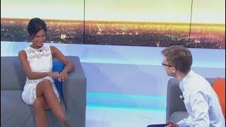 La Présentatrice de BFM TV Aurélie Casse terriblement sexy (BFMTV,07/07/17,7h41)
