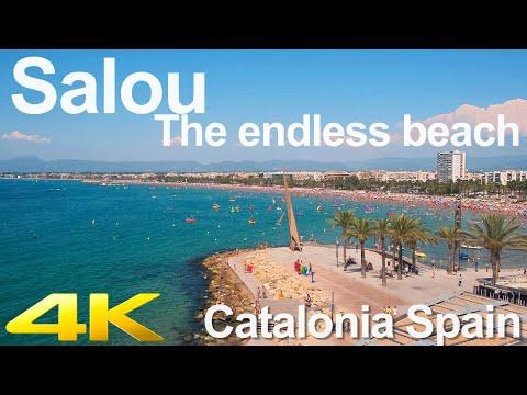 Tiny Tour | Salou Spain | Walk Along The Beach 2019 Summer