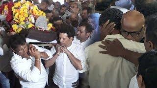 Sachin Tendulkar And Vinod Kambli Get Emotional At Their Coach Ramakant Achrekar's Last Rites