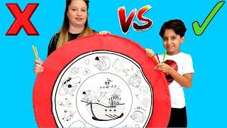 KRAL ŞAKİR 3 MARKER CHALLENGE ! Kral Şakir Korsanlar Diyarı Boyanabilir Oyun Bohçası - fun kid video
