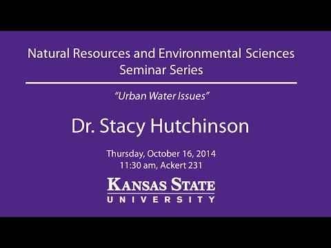Urban Water Issues - NRES Seminar Series