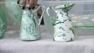 Make it Marble: A simple marbleizing DIY for pots and vases