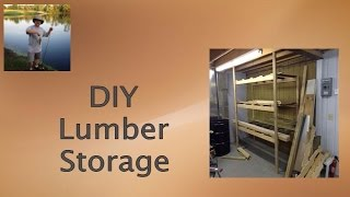 Build It Yourself!  Easy Workshop Lumber Storage System