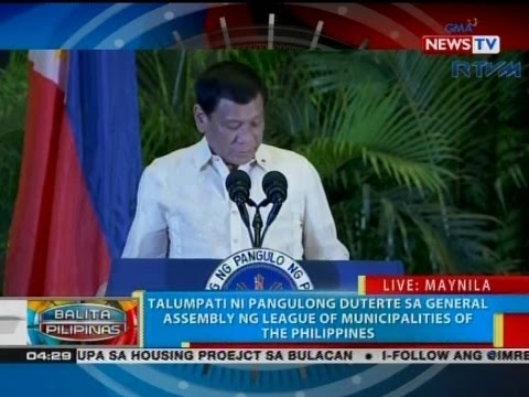 QRT: Talumpati ni Pang. Duterte sa General Assembly ng League of Municipalities of The Phl