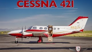 1973 Cessna 421 twin-engine flight tour