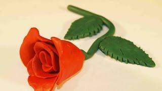 Поделки из пластилина для детей. Роза из пластилина в 4 руки.(Сегодня в рубрике
